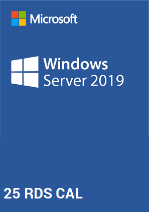 licencia windows server 2019 25 usuarios rds cal
