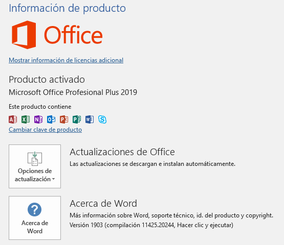 Office Pro por volumen 2019